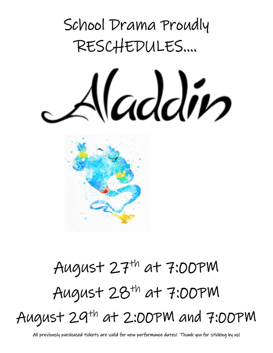 Aladdin Rescheduled August